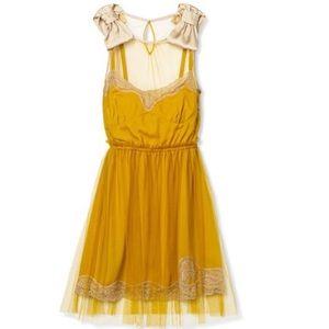 Rodarte for Target Sleeveless Slip Dress Mustard M